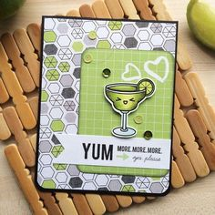 Yum Card created by designer Thanh Vo using the Sweet Stamp Shop Uno Mas stamp set #sssunomas