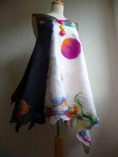Featured Artist: Inken Gaddass of Felted Art To Wear — Spin Artiste - Handspun Yarn Fibre Textile, Textile Art, Nuno Felting, Needle Felting, Textiles, Do It Yourself Jewelry, Felt Toys, Felt Art, Fabric Painting