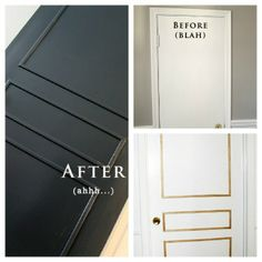 pre-cut molding for flat doors  --  I have done this to one of my doors (except I made the molding myself) and it looks great... I think a pre-made kit is a great idea!!!