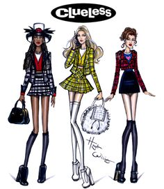 Hayden Williams Fashion Illustrations | Clueless 20th Anniversary by Hayden Williams