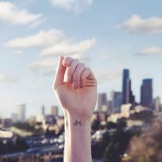 "culturenlifestyle: ""Miniature Tattoos With Matching Backgrounds American photographer Austin Tott's series entitled ""Tiny Tattoos"" showcases a series of miniature tattoos on the wrist against a. Mini Tattoos, Little Tattoos, Love Tattoos, Beautiful Tattoos, Tiny Tatoo, Tiny Wrist Tattoos, Small Tattoos, Bicycle Tattoo, Et Tattoo"