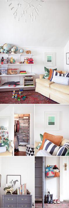 Os enseño una habitación infantil funcional y fresca gracias a los toques de color divertidos en su decoración. Una habitación muy particular con estilo propio
