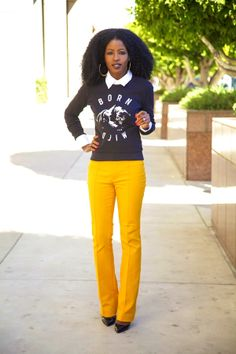 Perfect outfit. Love those pants.