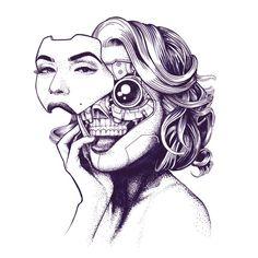 Oddhouse (@AlexOdisy) | Twitter Cyborg Tattoo, Cyberpunk Tattoo, Cyberpunk Girl, Arte Cyberpunk, Dark Art Drawings, Tattoo Design Drawings, Art Drawings Sketches, Tattoo Designs, Cyborg Girl