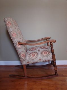 Upholstered Rocking Chair In Suzani Fabric Etsy Upholstered Rocking Chairs Chair Rocking Chair