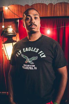 6790b609851 Philadelphia Eagles Fly Eagles Fly Black T-shirt