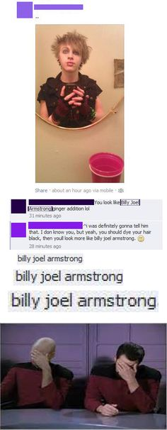 What the..........not again. people its billie joe armstrong idiots