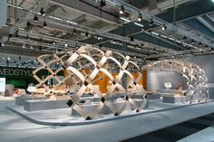 Färg & Blanche Create A Large Wood Structure To Promote Scandinavian Design At The Stockholm Furniture Fair