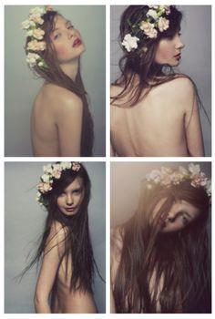 Flower crown portraits. ADORE!
