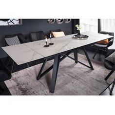 ATLAS design bővíthető étkezőasztal - márvány - 180-220-260cm | Luxus kerámia asztal Intelligent Design, Loft, Dinning Table, Modern Design, Tables, Industrial, Furniture, Home Decor, Products
