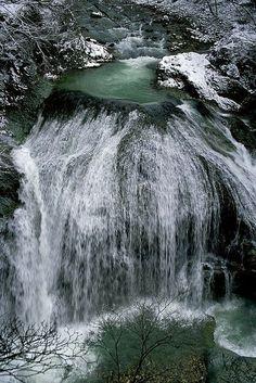 Sekiyama Falls, Yamagata, Japan, photo by Sky-Genta. All Nature, Amazing Nature, Beautiful Waterfalls, Beautiful Landscapes, Places To Travel, Places To See, Places Around The World, Around The Worlds, Beautiful World