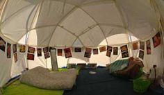 PlayaDome Shelters - interior