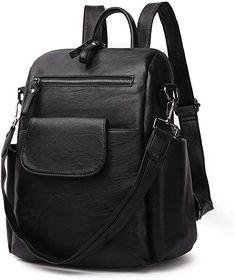 Women's Leather Backpack, LOSMILE Rucksack Ladies Shoulder Bags Handbag Vintage Casual Daypack for Work, School, Travel Vintage Handbags, Leather Backpack, Messenger Bag, Shoulder Bags, Satchel, Backpacks, Purses, Shoe Bag, Amazon