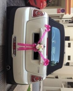 simple wedding car decorations - Google Search