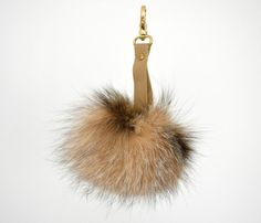 Light Brown Fluffy real Fox Fur Pom Pom very easy to by lefushop Pom Pom Purse, Fur Pom Pom, Pom Poms, Brown Purses, Brown Bags, Winter Accessories, Fox Fur, Gifts For Her, Charmed
