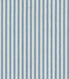 Upholstery Fabric- Waverly Classic Ticking/Denim: home decor fabric: home decor: Shop | Joann.com