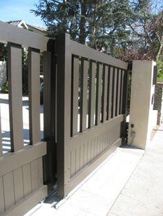 Wood Fence sliding driveway gate | Wood Driveway Gates, Sliding Driveway Gates, Driveway Gates