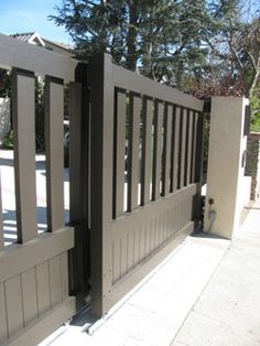 Wood Fence sliding driveway gate   Wood Driveway Gates, Sliding Driveway Gates, Driveway Gates