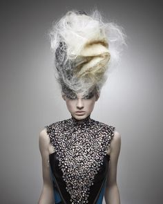 Avant garde hair by Kris Sorbie. Winner 2011 NAHA Master Hairstylist of the Year. #hair #hairstyle #hairdressers #artistichair #avantgarde #avantgardehair #handmade #inspiration #hairinspiration