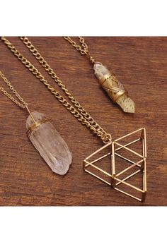 Urban Myth Triangle Necklace Set