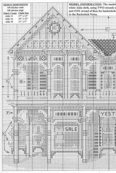Line Drawing - Whole Quilt Cross Stitch House, Cross Stitch Tree, Just Cross Stitch, Cross Stitch Patterns, Pattern Blocks, Quilt Patterns, Blackwork, Dear Jane Quilt, 365 Challenge
