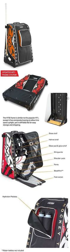 d0be92b2130 Grit Inc HTFX Hockey Tower 33 Wheeled Equipment Bag Red HTFX033-MO  (Montreal) Grit Inc.