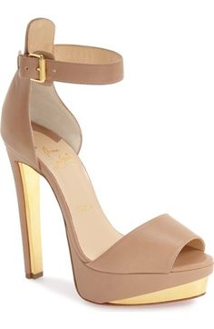 Christian Louboutin 'Tuctopen' d'Orsay Platform Sandal available at #Nordstrom
