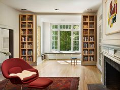 St. Martins - modern - Family Room - Philadelphia - Verner Architects