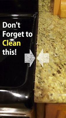 How to clean between your stove and counter! So simple can't believer didn't think of it!