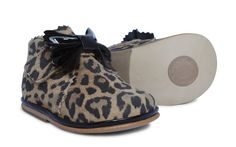 Baby Girls Leopard Leather Velcro Boot