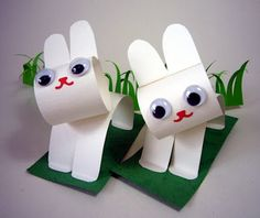 Paper Rabbits with Googly Eyes