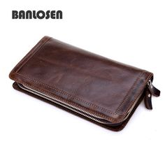 4772f154b Check lastest price New Brands Clutch Bag Men Wallets Black Brown Luxury  Large Capacity Gift for