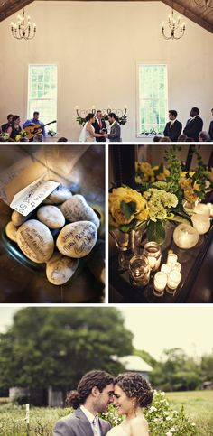 Green & Ivory, Rustic Summer Wedding in Tennessee | WeddingWire: The Blog