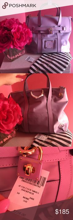 💜Henri Bendel Small Jetsetter backpack lilac 💜 Brand new never used only little flaw is my initials are monogrammed IK but you can barley tell .. No longer available sold out quick . Tv: 250 comes with straps dust bag and tag henri bendel Bags Backpacks