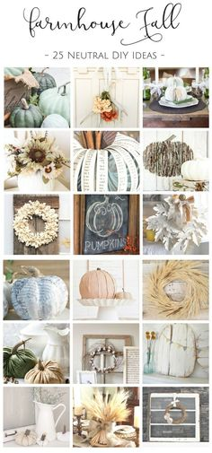 How to Fill your Home with Farmhouse Fall Decor without Breaking the Bank: 25 Farmhouse Style DIY Projects to Try this Fall These 25 Fall DIY's are the perfect way to fill your home with gorgeous farmhouse fall decor without breaking the bank! Fall Home Decor, Autumn Home, Unique Home Decor, Diy Home Decor, Holiday Decor, Seasonal Decor, Christmas Decorations, Autumn Decorations, Christmas Tables