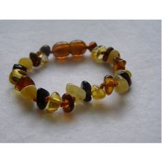For Julia: Baltic Amber Baby Teething Bracelet by Baltic Amber Teething Necklaces at BabyEarth.com, $10.95