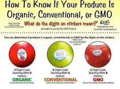 Non gmo food label on produce