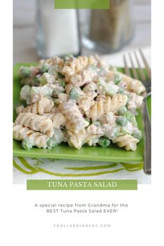 Looking for summer recipe ideas? You'll want to try this easy and budget friendly tuna pasta salad recipe! It's a perfect, light and refreshing lunch or dinner for you to enjoy. Best Fish Recipes, Best Pasta Recipes, Pasta Salad Recipes, Dinner Recipes, Favorite Recipes, Fun Pasta, Tuna Salad Pasta, Healthy Dishes, Dinners