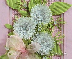 Cornflower with double looped bow