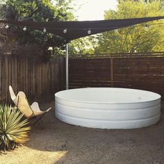 The stock tank pool is almost ready for summer! Just add water (and attach the filter).
