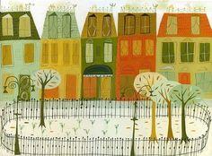 Gramercy Park, New York City - wall art print Matte Stephens. Illustrations, Illustration Art, Kitsch, Wall Art Prints, Fine Art Prints, Gramercy Park, Gouache Painting, Peterborough, Limited Edition Prints