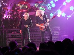 Roger Taylor, Brian May & Rufus Taylor, London show, 12th July 2012 | Source: Mark Gledhill