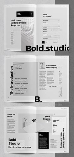 32 Pages Proposal / Estimation Brochure Template (InDesign) Searching for professional, modern business proposal templates? Then please, dive in. I bet you'll find something to suit your needs or those of your client. Quality over quantity. Magazine Layout Design, Book Design Layout, Print Layout, Magazine Design Inspiration, Magazine Layouts, Layout Inspiration, Business Proposal Template, Proposal Templates, Indesign Templates