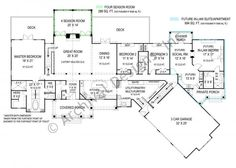 Pepperwood House Plan - 2878 sf with in-law quarters. - need library but otherwise love