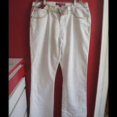 Cemasi white multi color 13/14 pants New never worn with tags oants. Very unique and interesting Cemasi Jeans Flare & Wide Leg