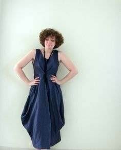 Linen Cloud Dress by Nishi