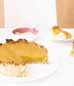 Gluten Free Kaffir lime and coconut tart - Gourmet Traveller