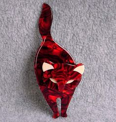 Lea Stein Attila Cat Pin Signed Paris France