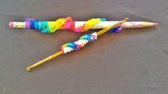 Rainbow Loom Pencil Twist / Wrap    How to Make with loom bands (no loom)