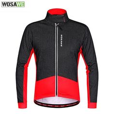 WOSAWE Thermal Cycling Jacket Winter Warm Up Ropa Ciclismo Invierno Bicycle Clothing Windproof Coat Mountain Bike Cycling Jacket